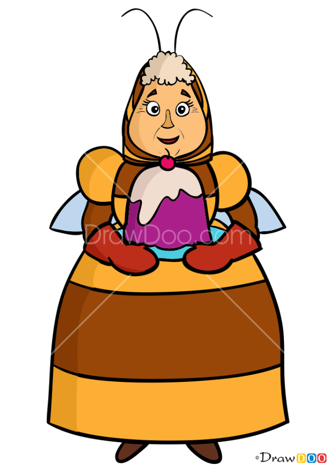 How to Draw Grandma Kapa, Luntik