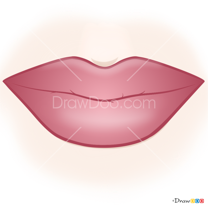 How to Draw Glamour Lips, Makeup