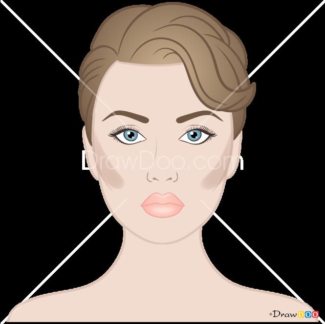 How to Draw Contooring, Makeup