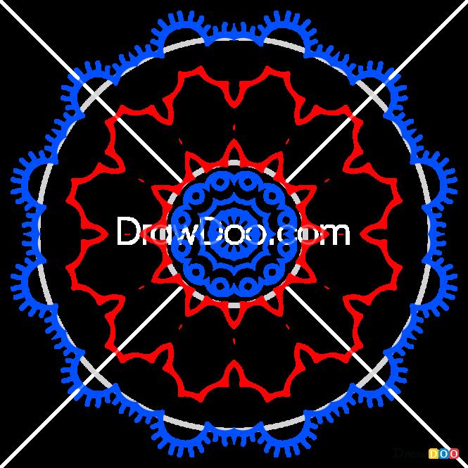 How to Draw Mandala 4, Mandala