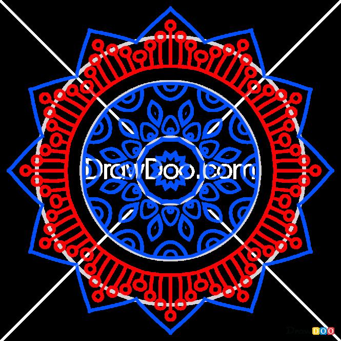 How to Draw Mandala 6, Mandala