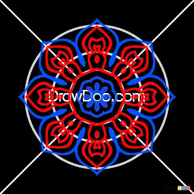 How to Draw Mandala 8, Mandala