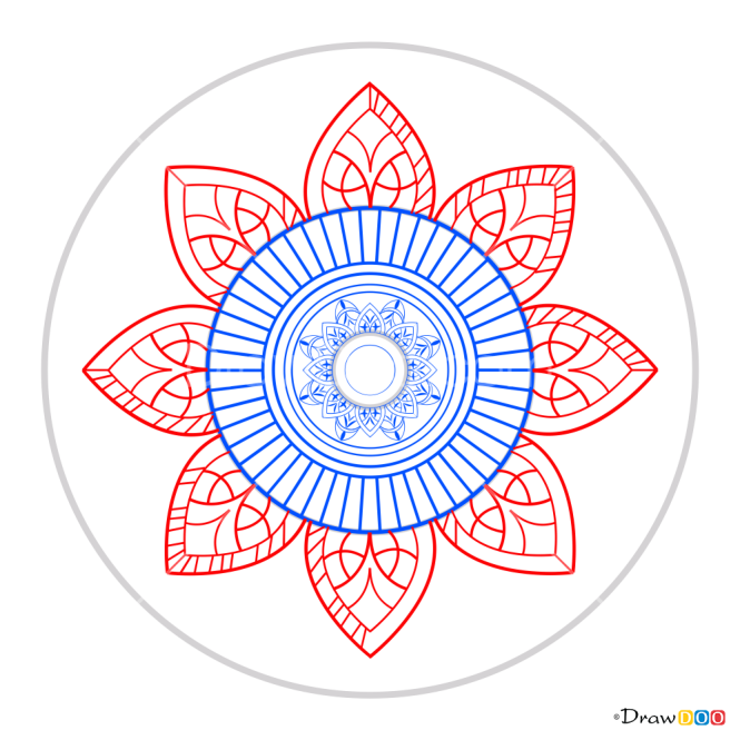 How to Draw Mandala 13, Mandala