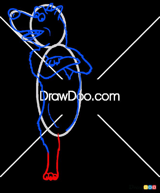 How to Draw Walf, Masha and The Bear