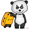 how to draw a panda bear for kids