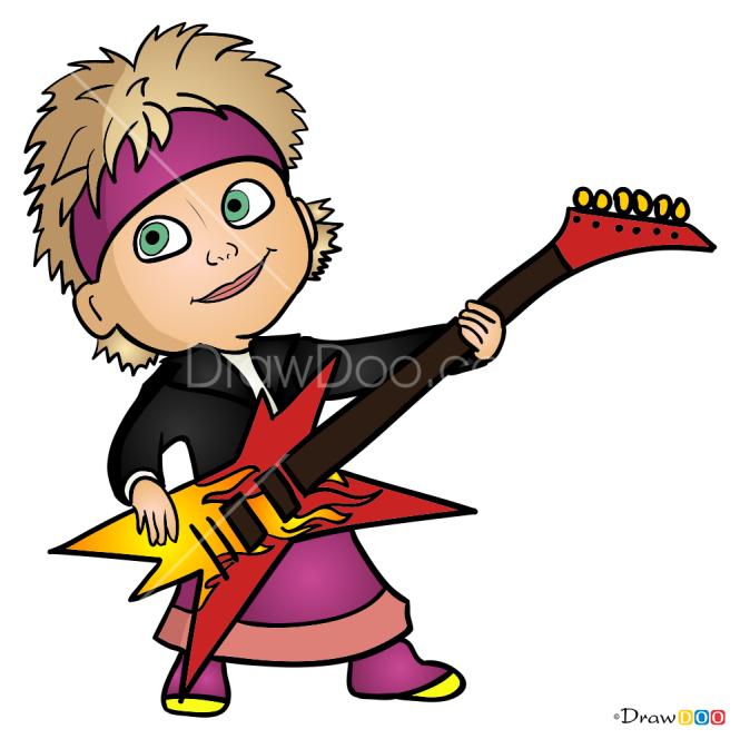 How to Draw Masha and guitar, Masha and The Bear