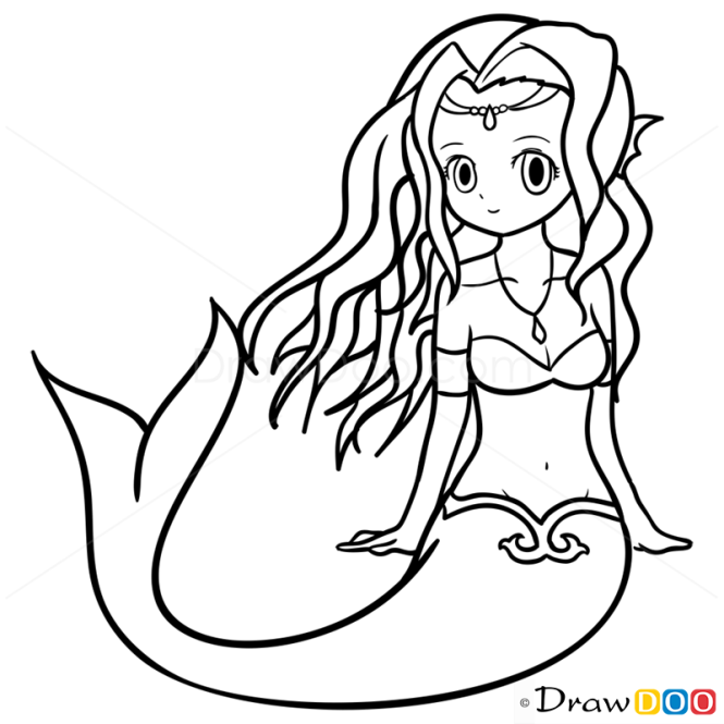 how to draw anime mermaid mermaids