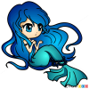 How to Draw Blue Haired Mermaid, Mermaids