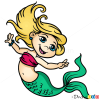 How to Draw Cartoon Mermaid, Mermaids