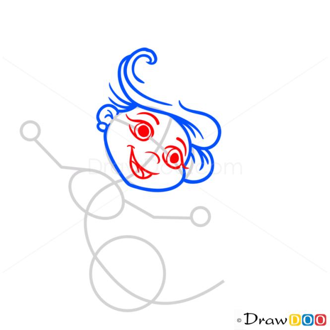 How to Draw Cartoon Mermaid, Mermaids