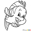 How to Draw Flounder, Mermaids
