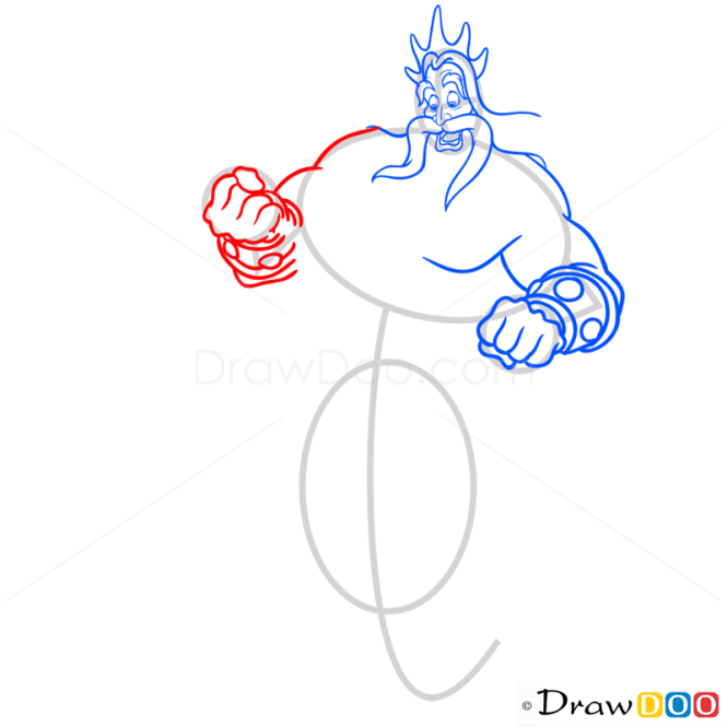 How to Draw King Triton, Mermaids