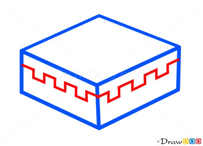 How to Draw Cake, Minecraft
