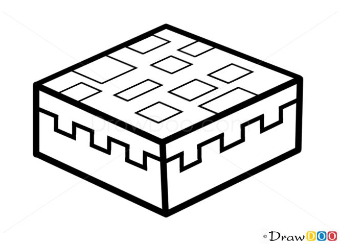 how to draw cake minecraft