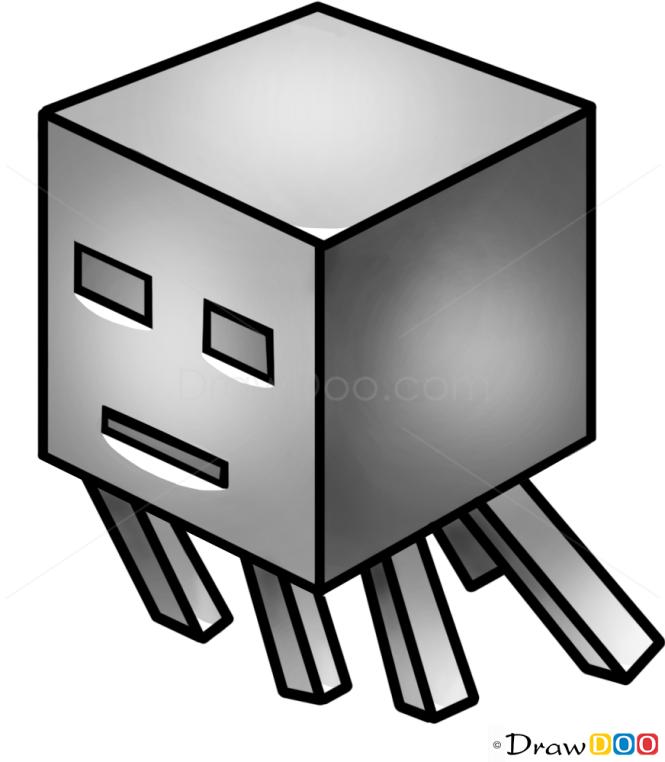 How to Draw Ghast, Minecraft