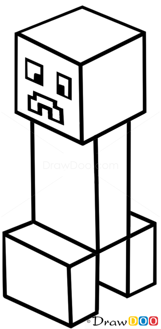 how to draw a creeper how to draw minecraft characters
