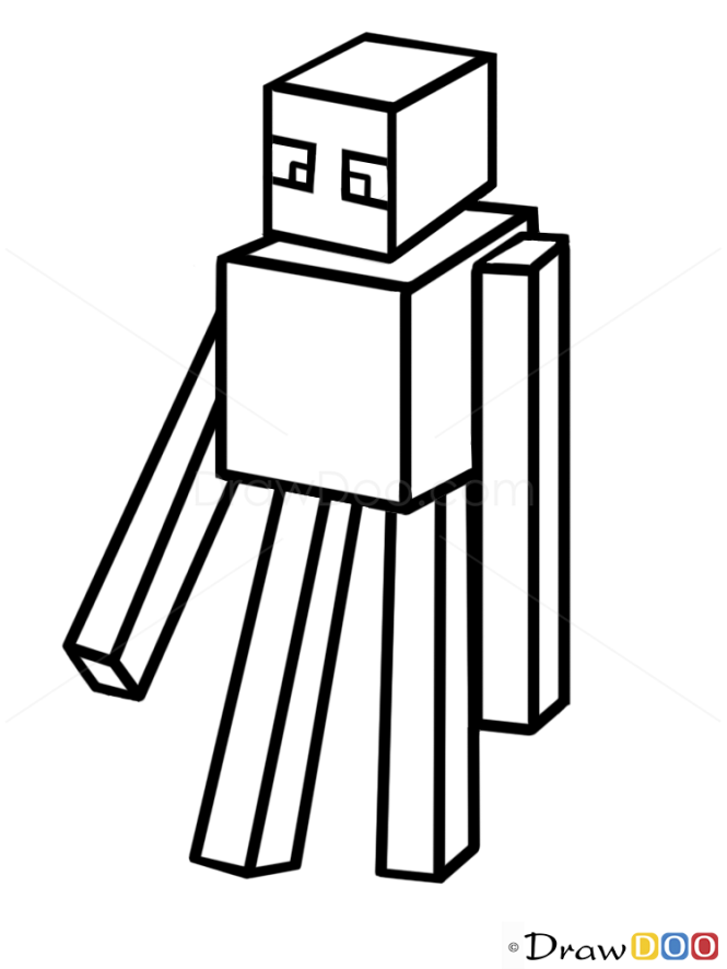 how to draw a enderman how to draw minecraft characters