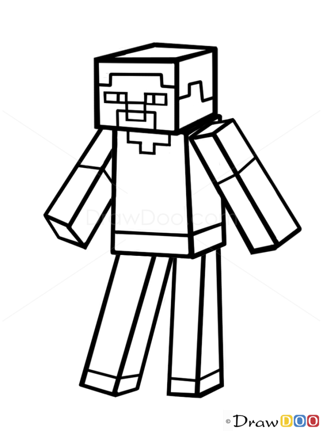 How to draw steve how to draw minecraft characters maxwellsz