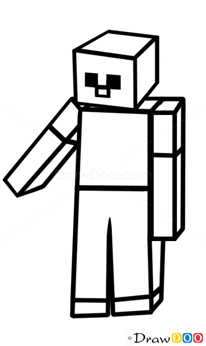 How to draw a minecraft zombie how to draw minecraft characters maxwellsz