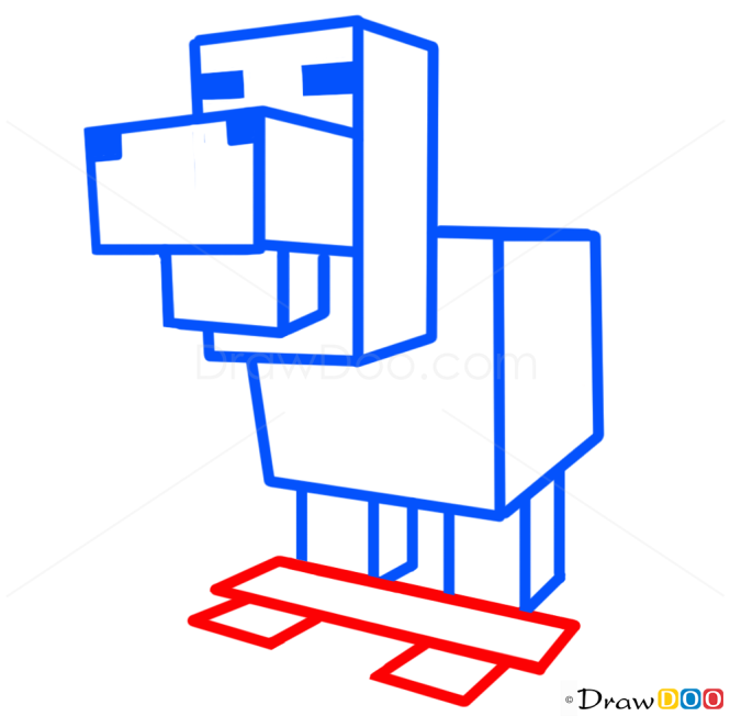 How to Draw Chicken, Minecraft