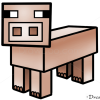 How to Draw Pig, Minecraft
