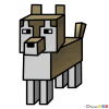 How to Draw Wolf, Minecraft