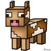How to Draw Cow, Minecraft