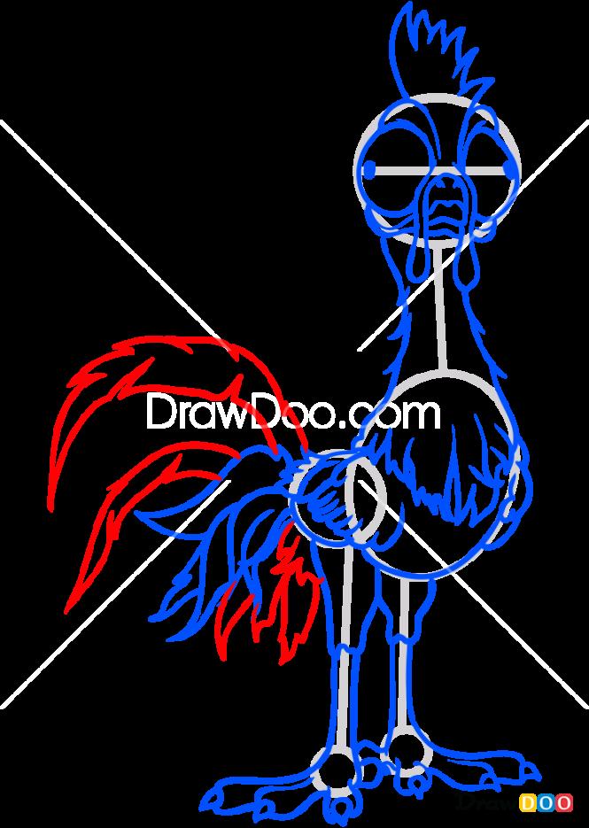 How to Draw Heihei, Moana