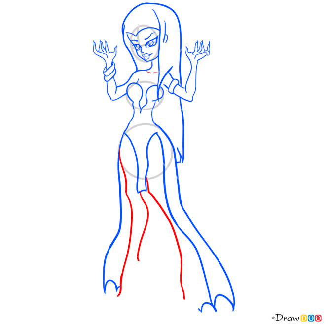 How to Draw Dracara, Monster Dolls