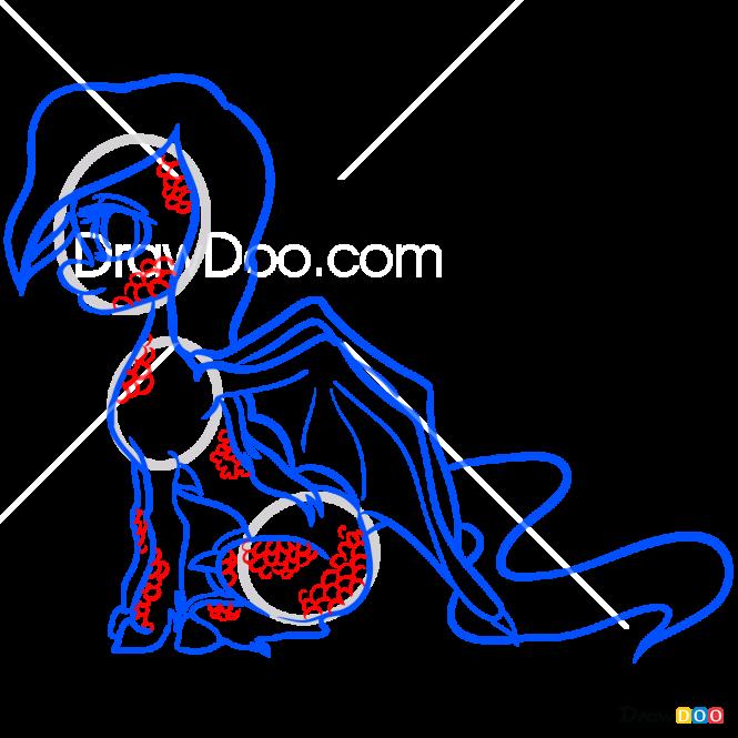 How to Draw Dragony, My Monster Pony
