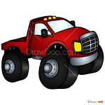 How to Draw Chibi Monster Truck, Monster Trucks