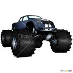 How to Draw Big Truck, Monster Trucks