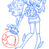 How to Draw Lagoona Blue, Monster High