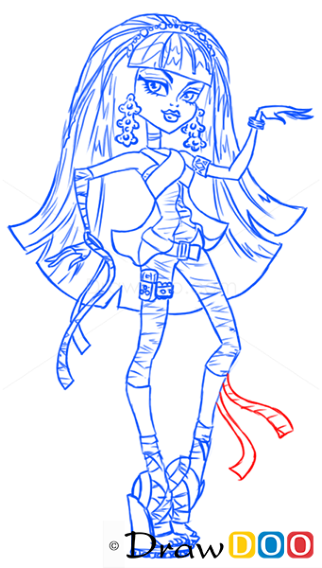 How to Draw Cleo de Nile, Monster High