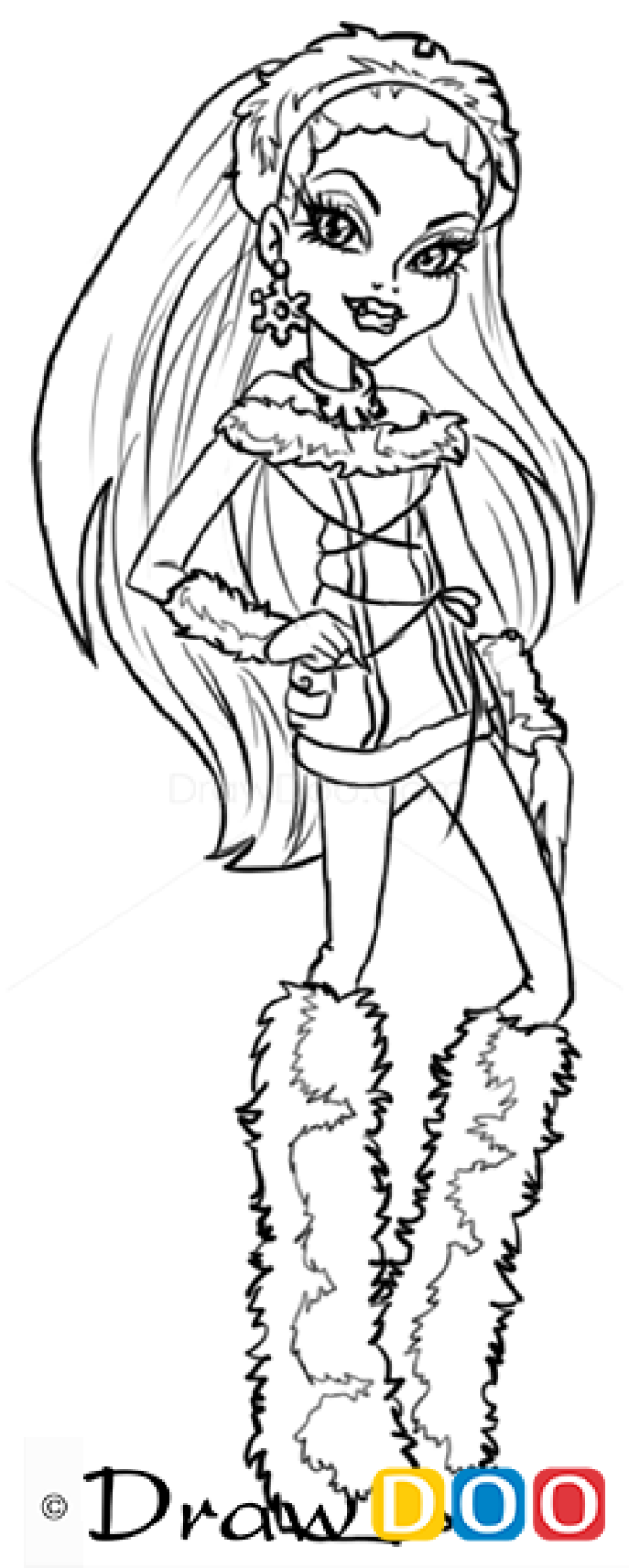 how to draw abbey bominable monster high