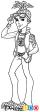 How to Draw Deuce Gorgon, Monster High