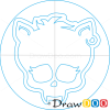 How to Draw Clawdeen Logo, Monster High