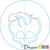 How to Draw Deuce Logo, Monster High