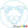 How to Draw Draculaura Logo, Monster High