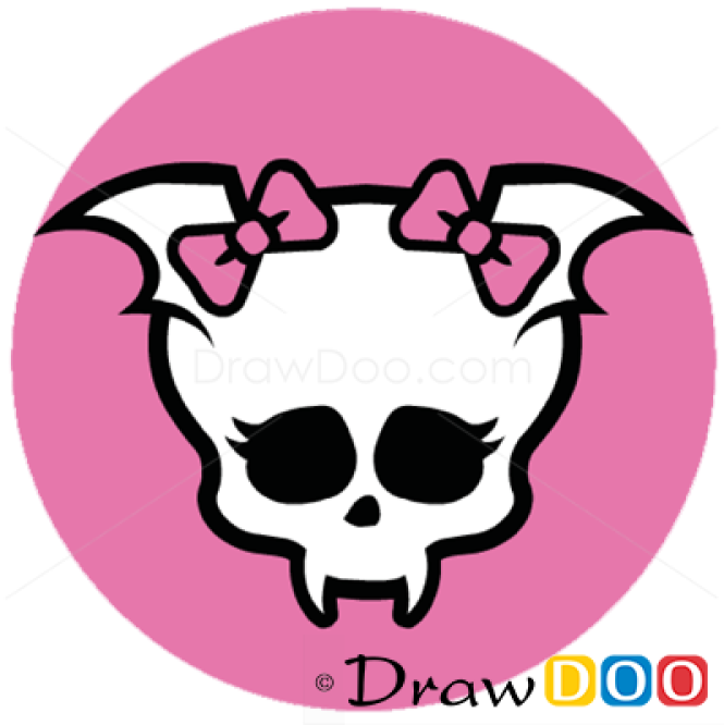 How to Draw Draculaura Logo, Monster High | 665 x 666 png 186kB
