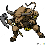 How to Draw Minotaur, Monsters