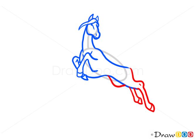 how to draw pegasus easy