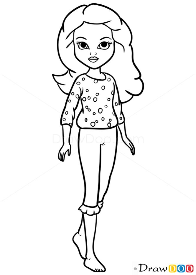how to draw avery pajama party moxie girlz