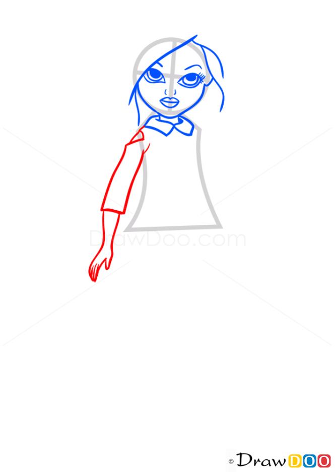 how to draw sophina pajama party moxie girlz