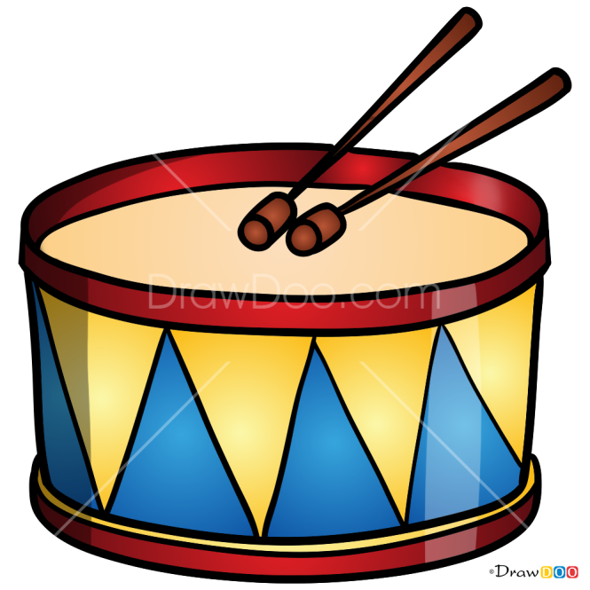 How to Draw Drum, Musical Instruments