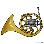 How to Draw Horn, Musical Instruments