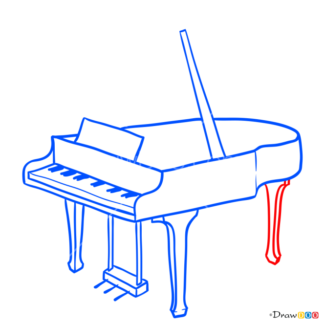 How to Draw Piano, Musical Instruments