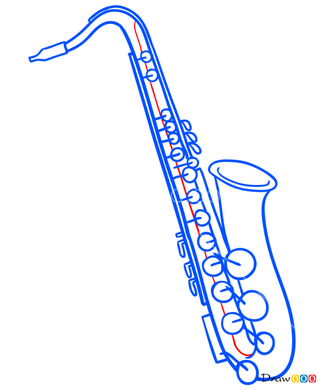 How to Draw Saxophone, Musical Instruments