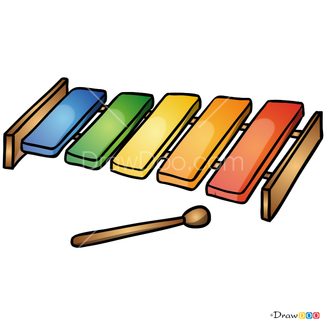 How to Draw Xylophone, Musical Instruments