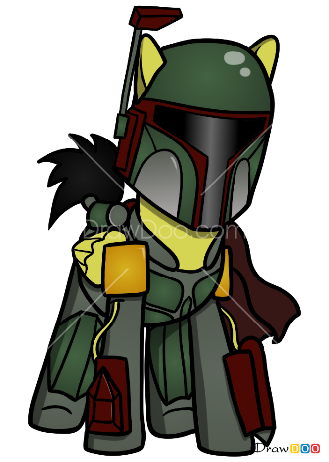 How to Draw Boba Fett, My Star Wars Pony